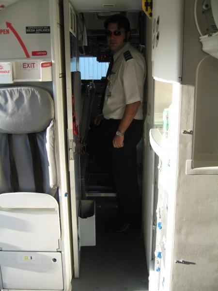 Berck in his plane